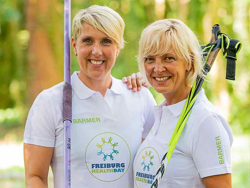 Christina Obergföll + Anke Faller